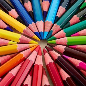 英雄 填色水溶性彩色铅笔36色