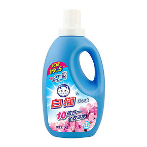 白猫 10效合一洗衣液 风信馨香型 2kg*2件 21.9元(买2付1)