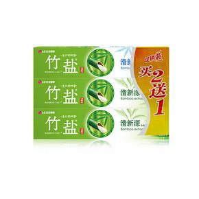 LG竹盐 清新源 牙膏 110g*3支 17.5元(可199-100)