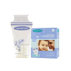 美国 Lansinoh 母乳保鲜储存袋 50片 赠儿童口罩3片 折49元(69,188-60)