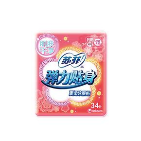苏菲 弹力贴身棉质纤巧日用 230mm*34片 折12.4元(24.9,199-100)
