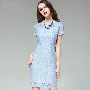 贝瑞英格 复古水溶蕾丝连衣裙 159元包邮