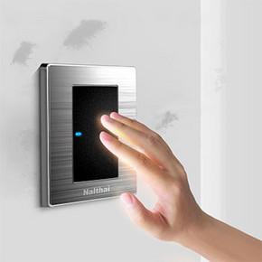 华帝斯 轻点式开关面板 带LED指示灯 5元包邮(16-8-3券)