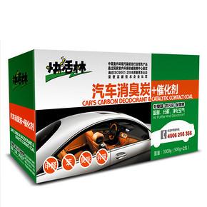 拍1发2# 快活林 车用除味活性炭包 1kg*2箱  5.5元包邮(25.5-20券)