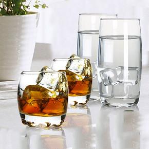 圣铭陶瓷 加厚钢化玻璃水杯套装 4只 8.9元包邮(18.9-10券)