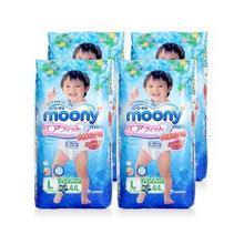 moony 尤妮佳 男宝宝专用拉拉裤  L44片*4包 319元包邮(303+36-20券)