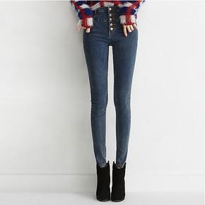 穿出小鸟腿# 琼斯维格 弹力显瘦高腰牛仔裤 69元包邮(129-60券)