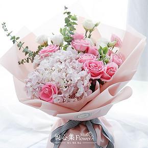 手慢无# 悦心集 MissFlower 伴手礼玫瑰鲜花花束 39元包邮(239-200券)