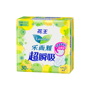 乐而雅 超瞬吸纤巧日用卫生巾30片 折9.4元(23.8-5券)