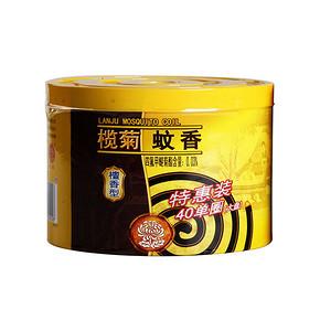 榄菊 大盘檀香型黑蚊香40单盘+蚊香座 9.9元