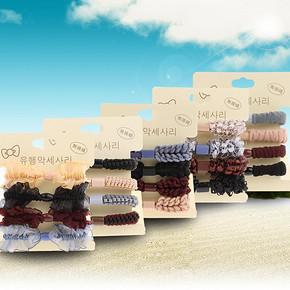 摩亚杰卡 蕾丝百搭多款式发圈 20个 11.9元包邮(14.9-3券)