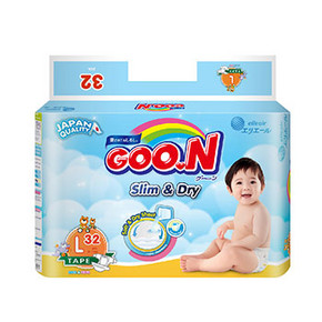 GOO.N 大王 特薄干爽 婴儿纸尿裤 L32片*3包 136元包邮(3件136元)