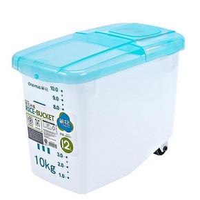 茶花  欧式精装密封带轮米桶 24斤 29元包邮(39-10券)