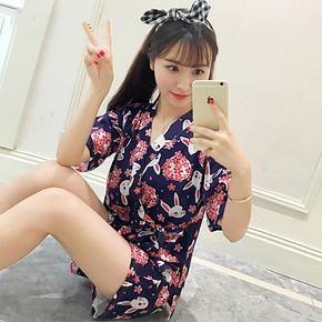日式风情# 棉先生 女款和风睡衣套装 29元包邮(49-20券)
