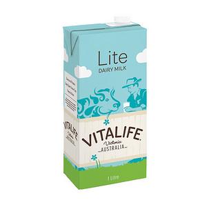 澳洲进口 Vitalife 低脂UHT牛奶 1L*12盒 45.3元(39.9+5.4)