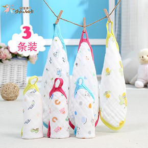 前5分钟半价# 史维迪 婴儿纯棉6层口水巾 3条*3组 14.5元(87-72.5)