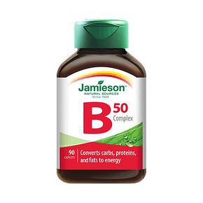 加班必备# Jamieson 健美生 维生素b族 90片 49元包邮(79-30券)