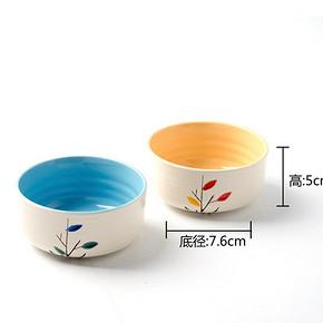 清新小碗# 恩也 陶瓷小碗 11cm*5cm 2只装  5.8元包邮(10.8-5券)