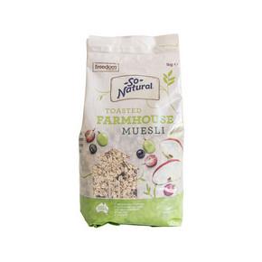 澳洲 So Natural 水果麦片 1kg 折22.3元(39.9,199-100+11.9)
