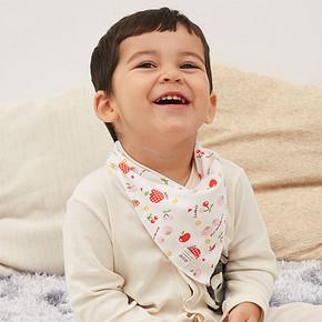活力鸭 婴儿纯棉口水三角巾 5条装 6.5元包邮(9.5-3券)