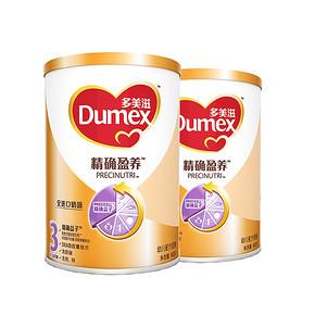 Dumex 多美滋 精确盈养幼儿配方奶粉 3段 900g*2罐 178元包邮