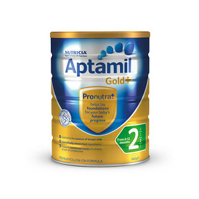 Aptamil 爱他美 婴幼儿奶粉 900g 2段 121.9元包邮(109+12.9)