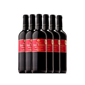 西班牙进口 西莫红葡萄酒 半干 750ml*6瓶 99元包邮