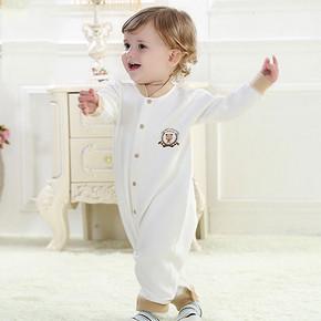 于贝贝 婴儿纯棉长袖连体衣 19.9元包邮(49.9-30券)
