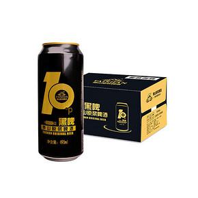 泰山 啤酒 10度 黑啤原浆 490ml*12听 47.4元