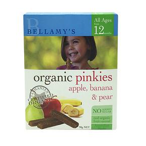 辅食磨牙二合一# Bellamy's 贝拉米 有机磨牙手指饼干水果味  90g 11.6元(9.8+1.8)