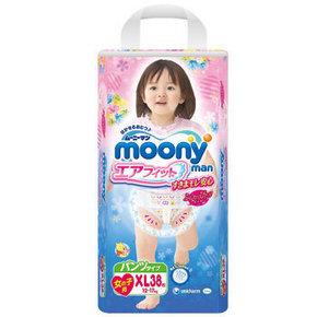 日本 MOONY 尤妮佳 婴儿纸尿裤/ 拉拉裤 女 XL38片 77.9元(69+8.9)
