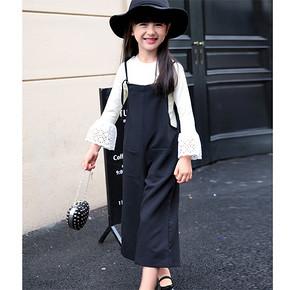 小小名媛范# 尼尔斯嘉  女童两件背带阔腿裤套装 64元包邮(69-5券)