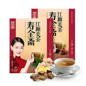 前60秒半价# 寿全斋 红糖姜茶 120g*2盒 15元包邮(30-15)