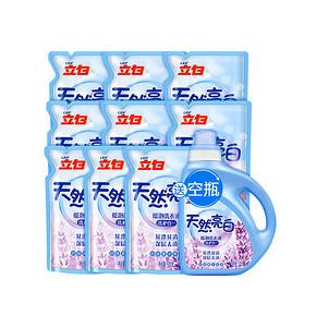 立白 天然亮白低泡洗衣液 500g*12袋 赠保宁洗衣皂200g*3块 47.9元