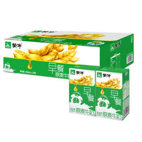 蒙牛 麦香口味早餐奶 250ml*16盒  33.6元包邮