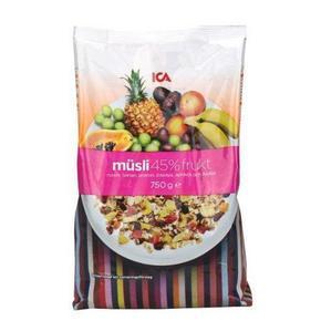 早餐好选择# 瑞典 ICA 水果坚果燕麦片 750g 39.9元包邮