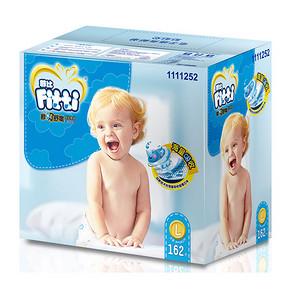 Fitti 菲比 秒吸舒爽纸尿裤  L162片 9-14kg 119元