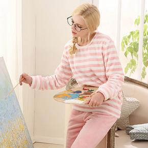 冬日美少女# 法派尼 可爱珊瑚绒套头家居服 29.9元包邮(49.9-20券)