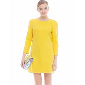 知性范# Lily 欧美T台风插肩袖圆领连衣裙 折137元(3件4折)