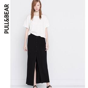超好垂直感# Pull&Bear 女士素色长裙 49元