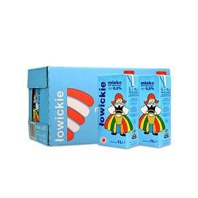 波兰进口 lowicz 罗兹姑娘 脱脂纯牛奶 1L*12盒 折72.7元(买3免1)