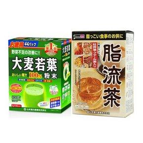 瘦身搭档# 大麦若叶青汁44袋+脂流茶24袋   123元包邮(119-10+14)