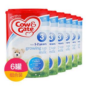 Cow&Gate 英国牛栏 婴幼儿奶粉 3段 900g*6件  685元包邮(628-15+74)
