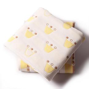 尤尔贝拉 婴儿纯棉纱布浴巾抱被 105*105cm 29.9元包邮(49.9-20券)