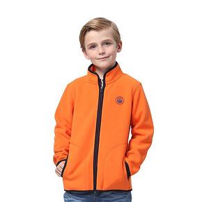 前5分钟半价# 吉普童装 摇粒绒运动拉链外套 7日0点 99返49.5元