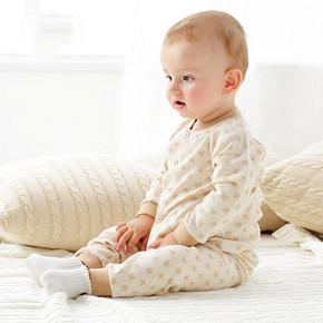 米乐熊 婴幼儿纯棉薄绒连体衣 13.6元包邮