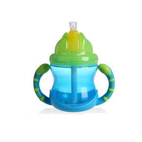 学喝水不呛# Nuby 努比 双耳防漏防呛吸管杯 240ml  34.5元包邮(49.5-15券)
