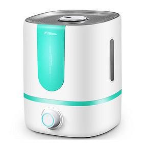 办公室新宠# 德尔玛 家用静音大容量加湿器 5L 39.9元包邮(49.9-10券)