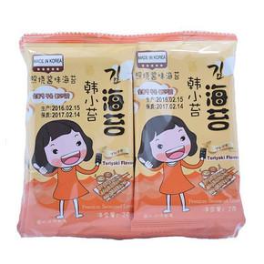 韩国进口 韩小苔 照烧酱味海苔 2g*10袋 折6.2元(99-50券)