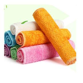 纤维去油# 汉世刘家 竹纤维不沾油洗碗巾 10条装  19.8元包邮
